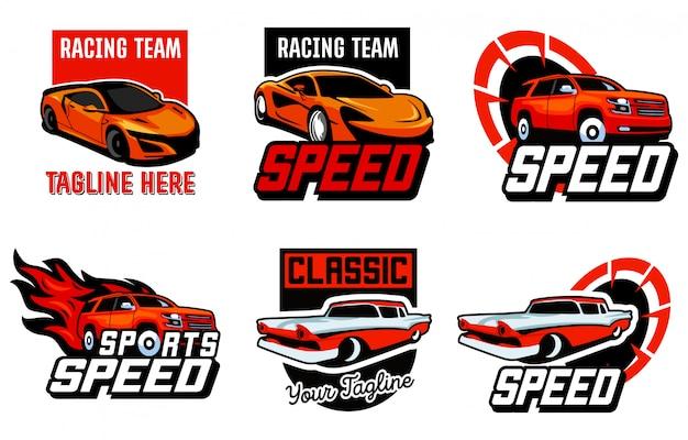 Set di auto, modello di logo automobilistico
