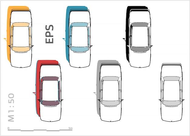 Set di auto per il disegno