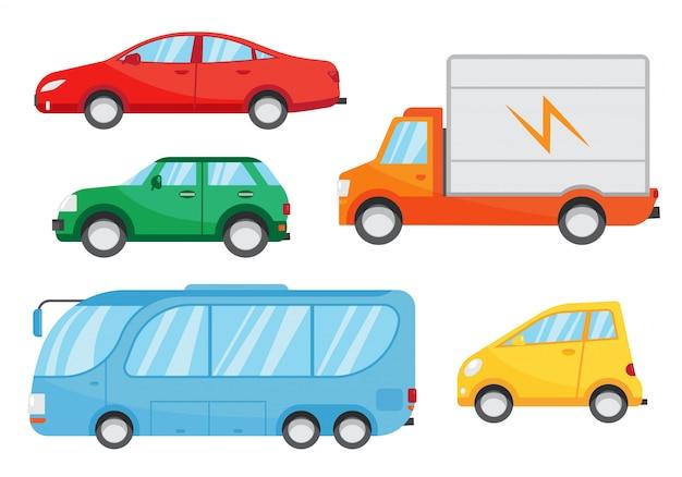Set di auto piatte.