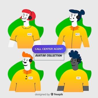 Set di avatar di call center