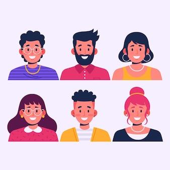 Set di avatar di persone