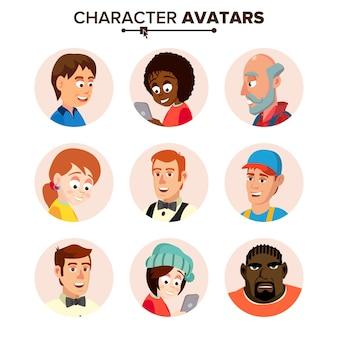 Set di avatar personaggi personaggi.