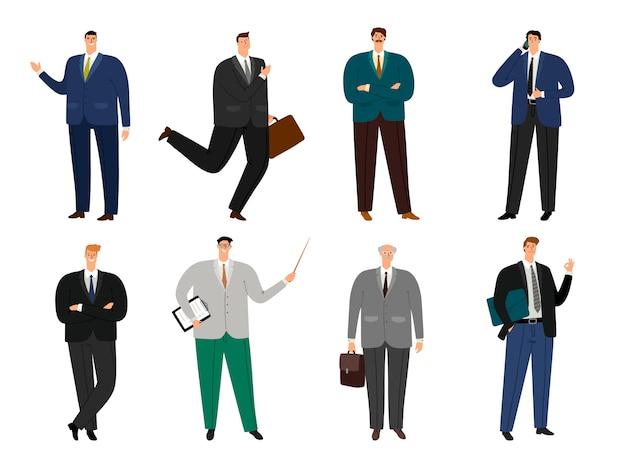 Set di avatar uomo allegro ufficio