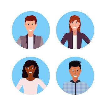 Set di avatar