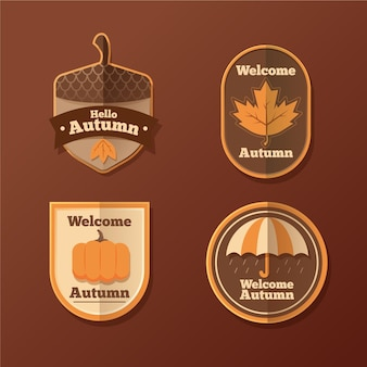 Set di badge autunnali