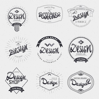 Set di badge calligrafici