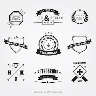 Set di badge d'epoca