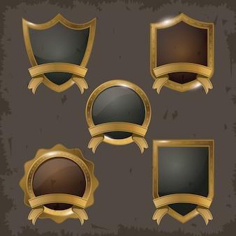 Set di badge d'oro