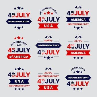 Set di badge giorno dell'indipendenza