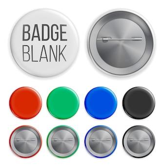 Set di badge in bianco