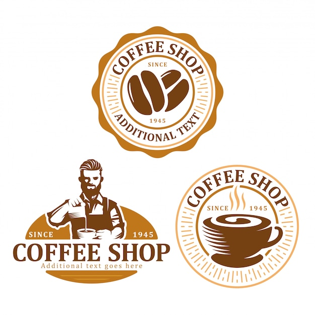Set di badge logo caffè