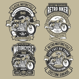 Set di badge moto classico