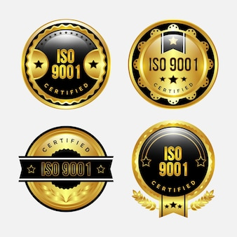 Set di badge per certificazione iso