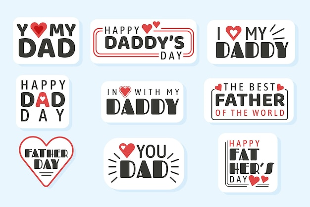 Set di badge per la festa del papà