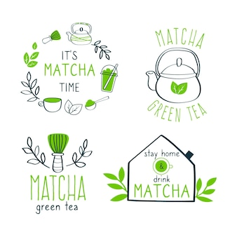 Set di badge per tè matcha