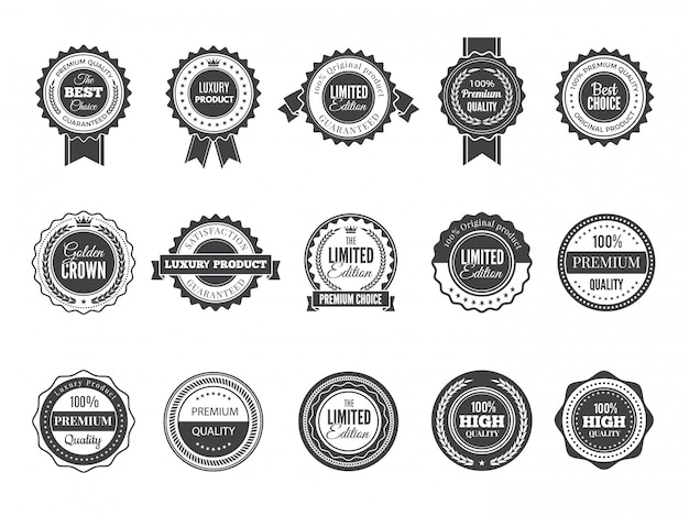 Set di badge premium vintage