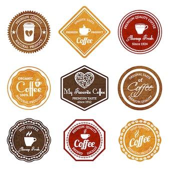 Set di badge retrò caffè