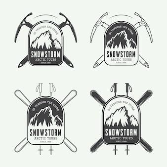 Set di badge spedizioni artiche