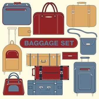 Set di bagagli per il tempo di viaggio
