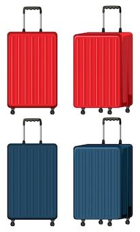 Set di bagagli su bianco