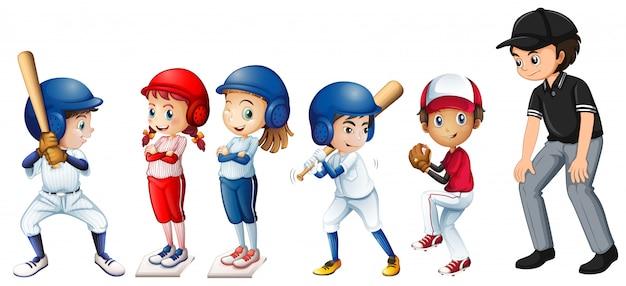 Set di bambini da baseball
