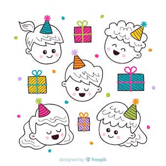 Set di bambini di compleanno
