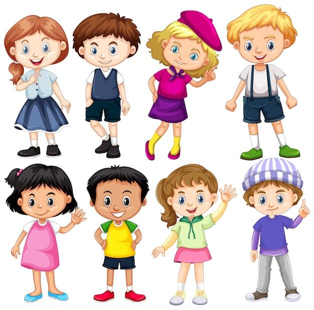 Set di bambini internazionali