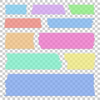 Set di bandiere adesive trasparenti