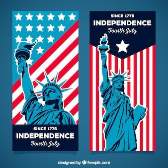 Set di bandiere del 4 luglio