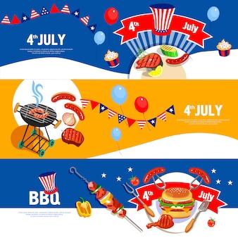 Set di bandiere del giorno dell'indipendenza