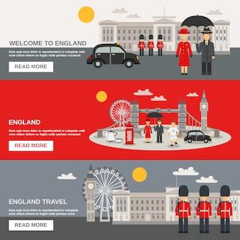 Set di bandiere orizzontali di cultura inglese 3