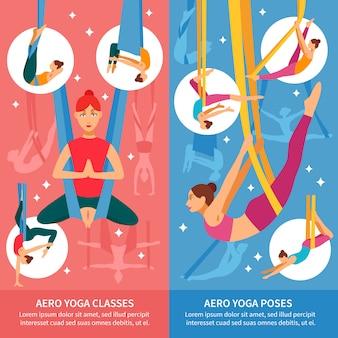 Set di banner aero yoga