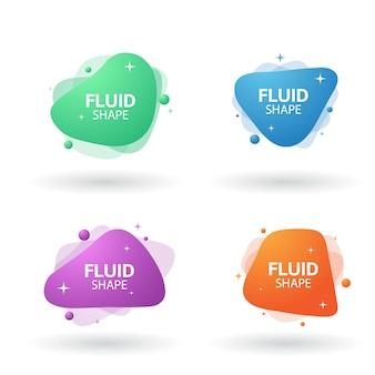 Set di banner astratto fluido