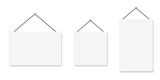Set di banner bianco. sfondo di carta arte vettoriale.
