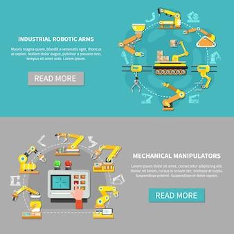 Set di banner braccio robotico