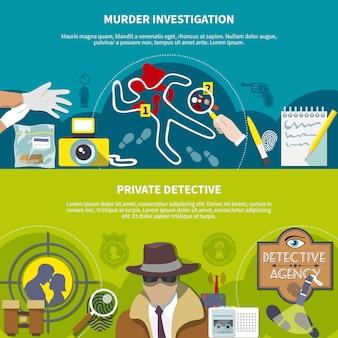 Set di banner colorati detective