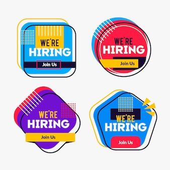 Set di banner colorati di reclutamento