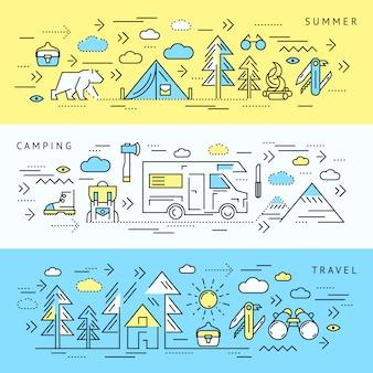 Set di banner da campeggio