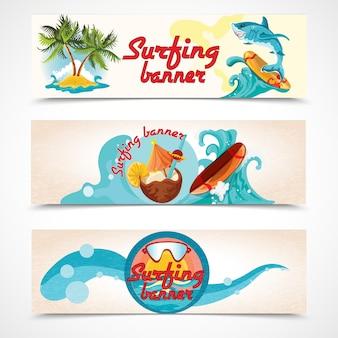 Set di banner da surf