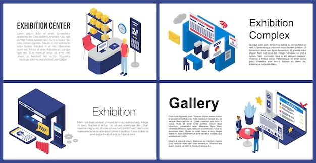 Set di banner del centro espositivo