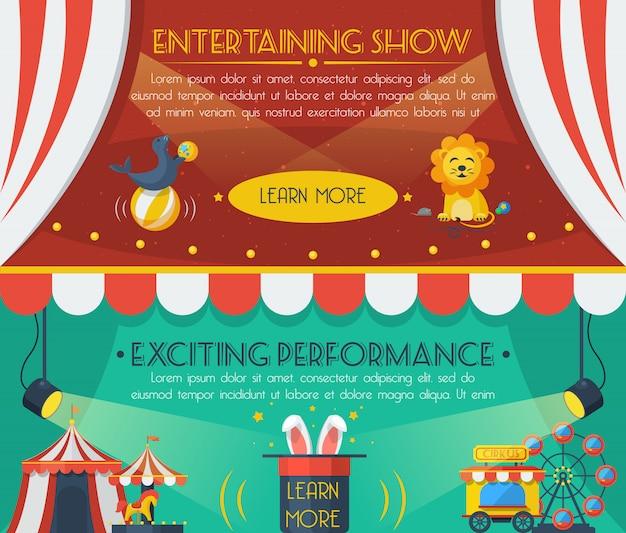 Set di banner del circo