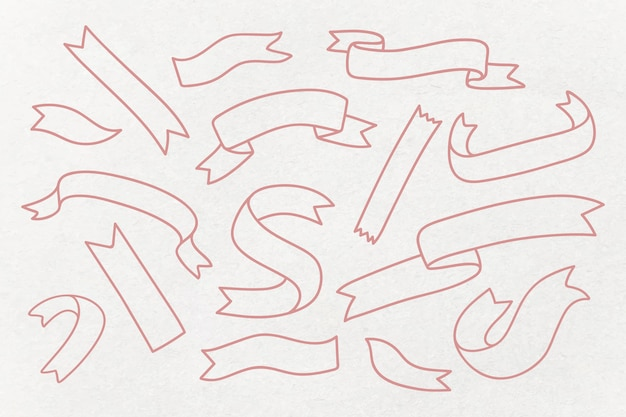Set di banner del nastro