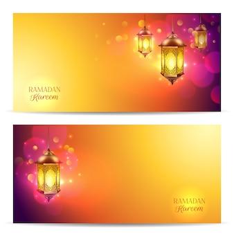 Set di banner del ramadan