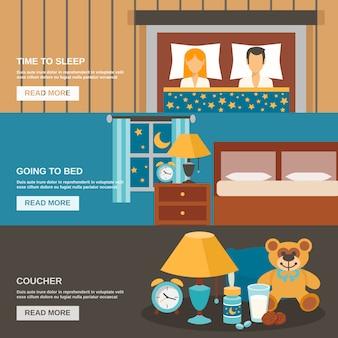 Set di banner del tempo di sonno