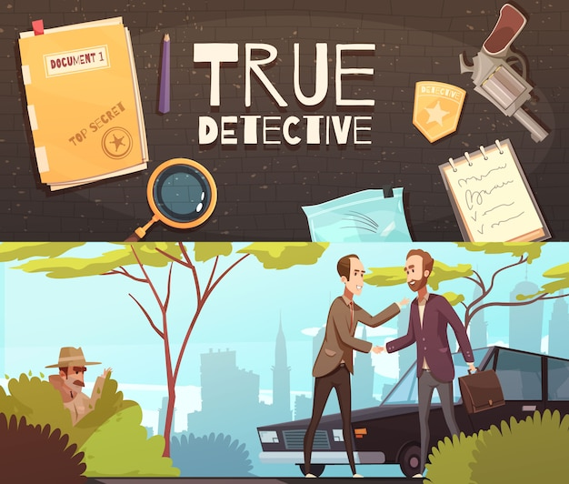 Set di banner detective story