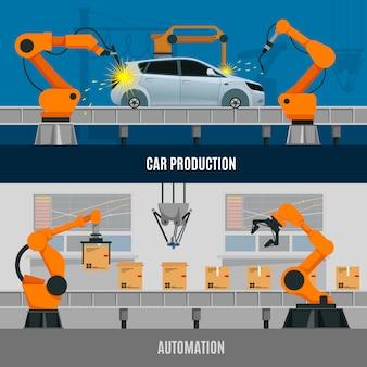 Set di banner di automazione