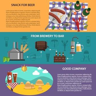 Set di banner di birra