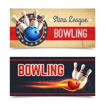 Set di banner di bowling