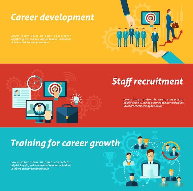 Set di banner di carriera