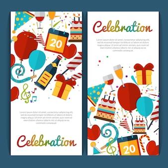 Set di banner di celebrazione